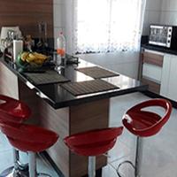 Pia de cozinha de granito