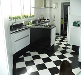 Piso de Granito Na Cozinha